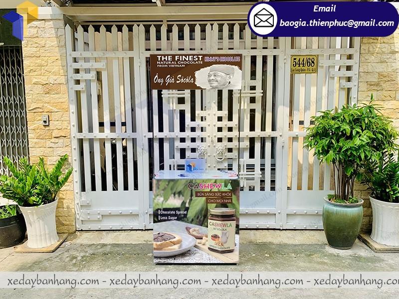 báo giá booth sắt quảng cáo bơ sôcôla