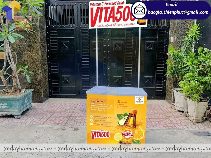booth nhựa bán nước vitamin giá rẻ