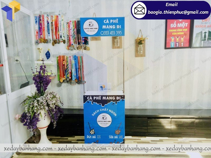 booth sắt mini bán cafe