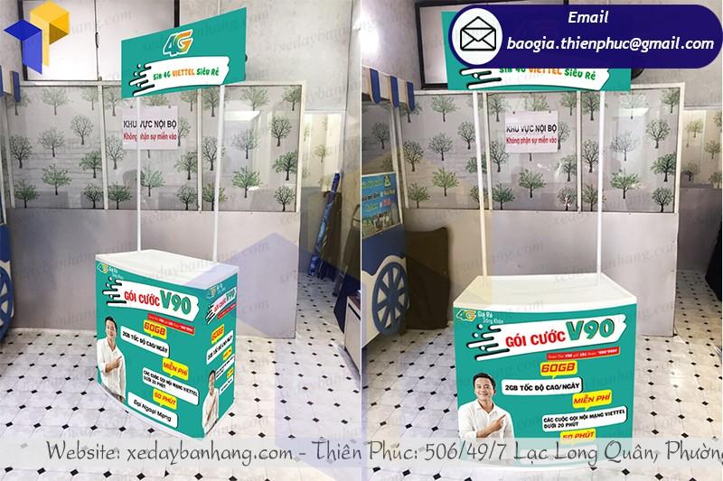 booth nhựa sampling giá bao nhiêu