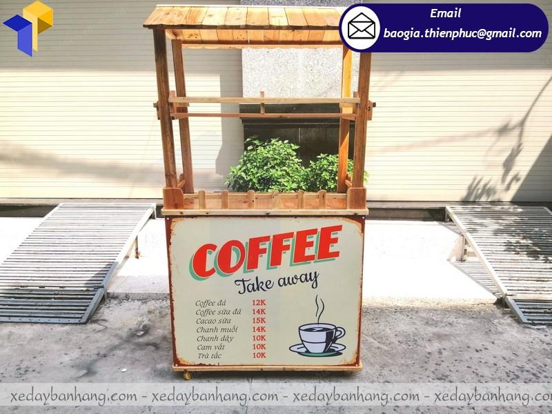 xe gỗ cà phê take away