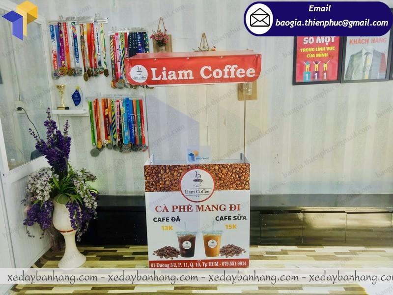mẫu quầy cafe take away lắp ráp giá rẻ