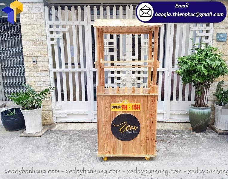 xe gỗ pallet bán hàng di động