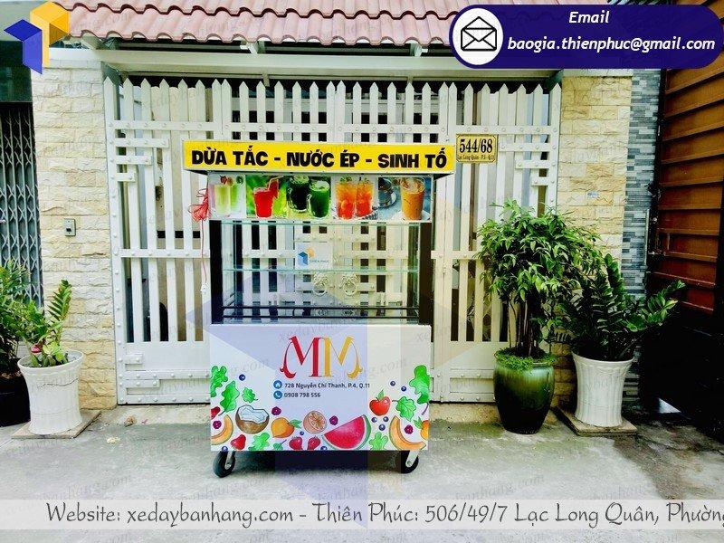 thiết kế tủ bán sinh tố trái cây