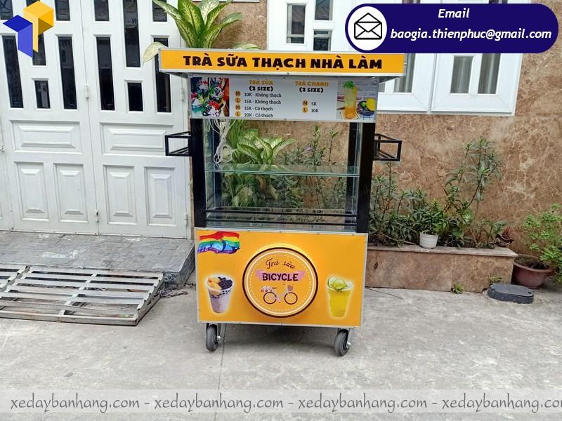 thiết kế xe bán trà sữa theo yêu cầu