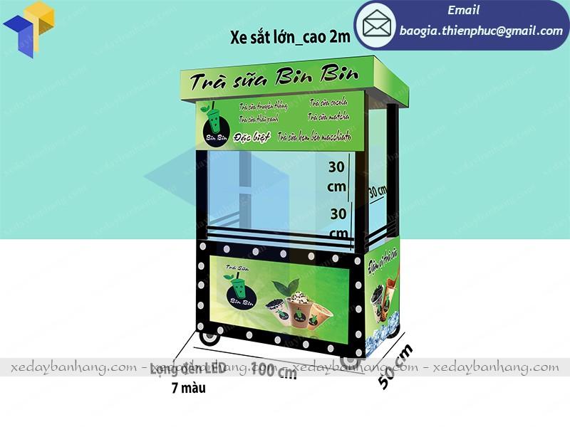 thiết kế xe bán trà sữa