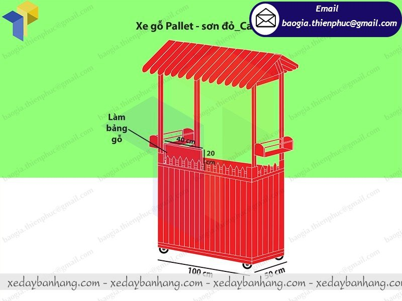 tủ gỗ bán cafe mang đi giá rẻ