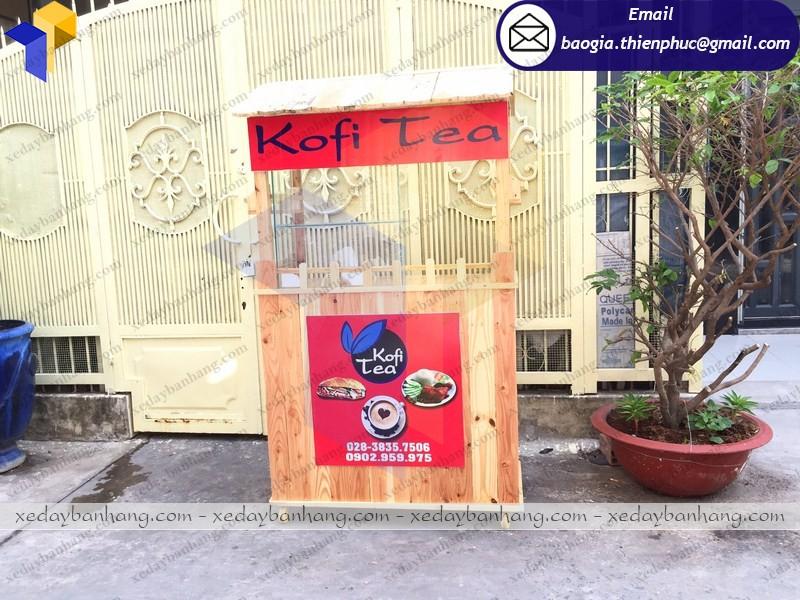 tủ gỗ bán trà sữa giá rẻ