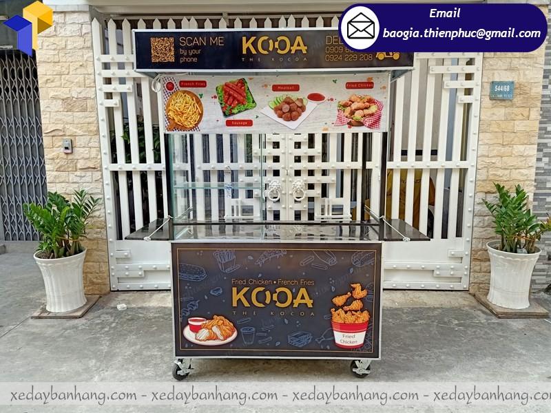 tủ sắt bán thức ăn nhanh