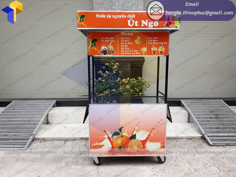 xe bán nước cam ép đẹp