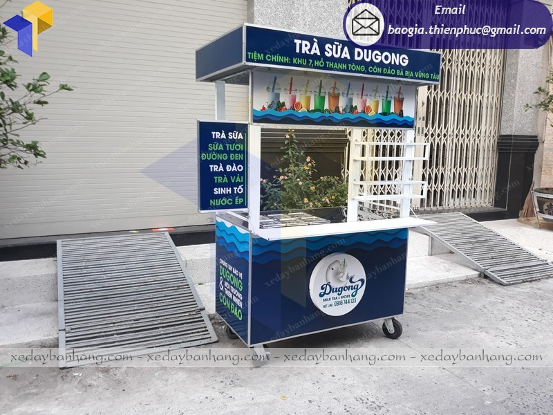 xe bán trà sữa giá rẻ