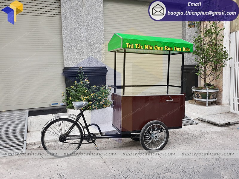 xe đạp bán nước sâm