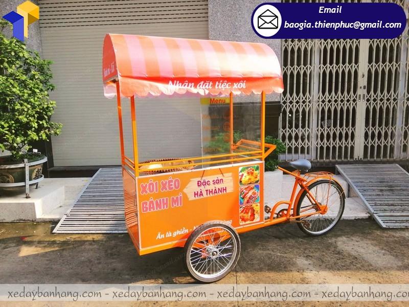 xe đạp bán xôi bánh mì