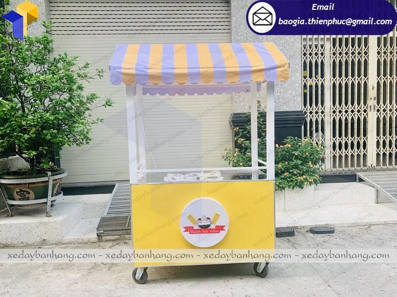 xe đẩy bán kem giá rẻ hcm