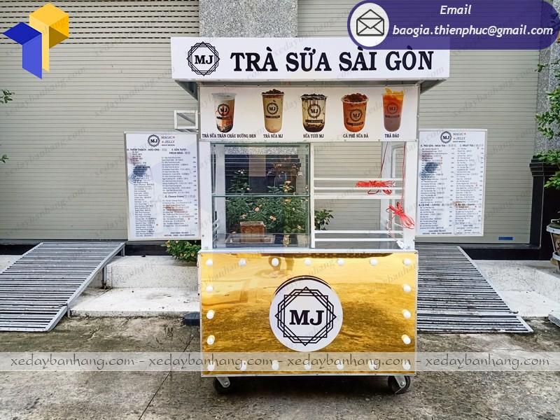 xe đẩy bán trà sữa đẹp
