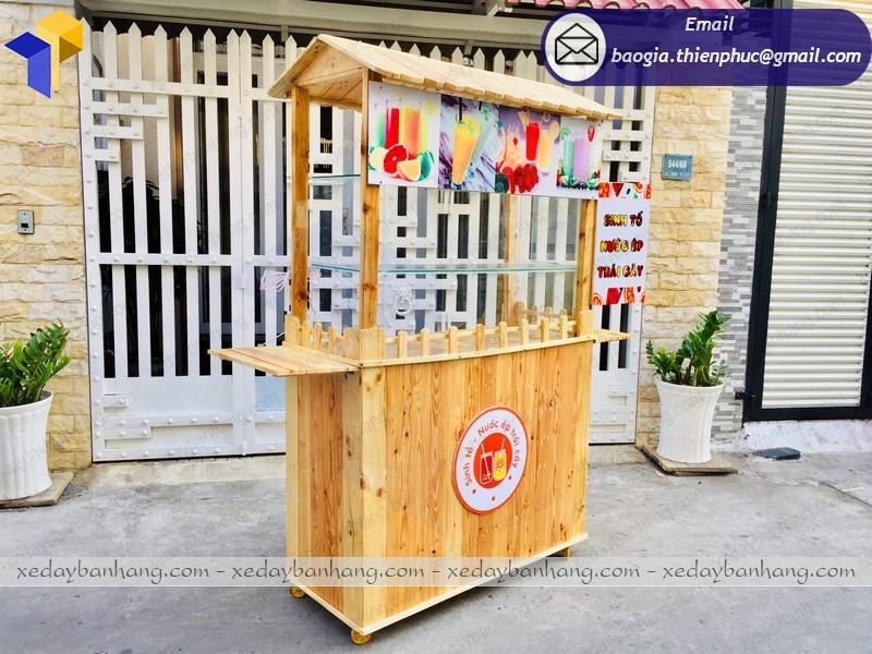 xe gỗ bán nước giá rẻ